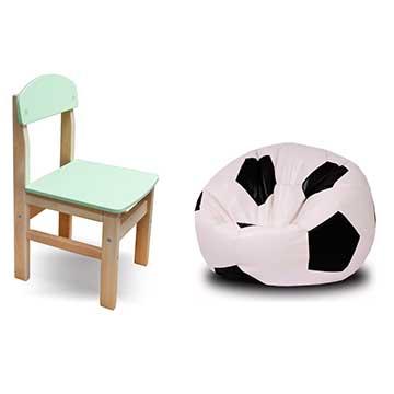 Krēsliņi, pufi