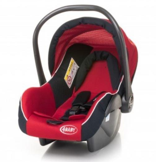 4baby COLBY red Bērnu autosēdeklis (ar kāju pārvalku) 0-13 kg