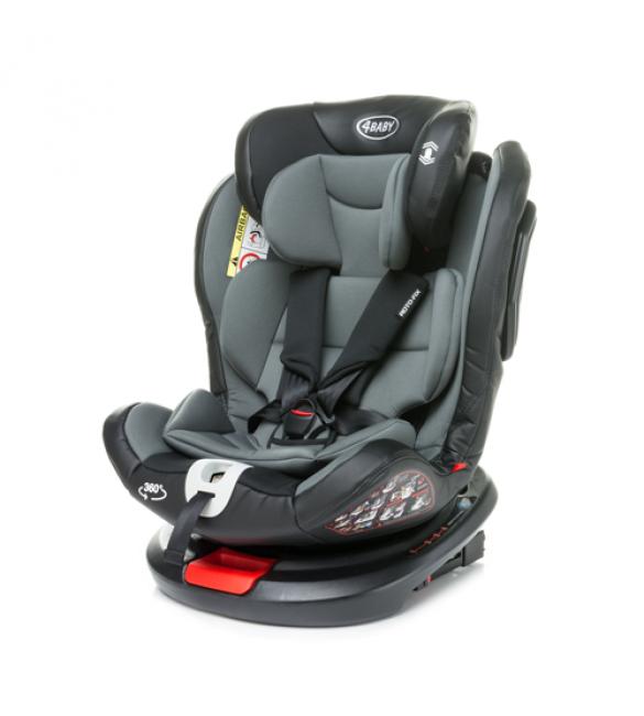 4BABY ROTO-FIX grey Isofix Bērnu autosēdeklis 0-36 kg