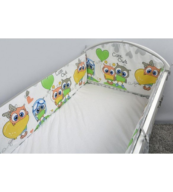 Aizsargs gultai 360 сm ANKRAS OWLS-HEARDS grey