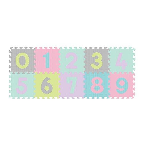 Aktivitātes paklāji-puzzle NUMBERS 10 plāksnes Babyono 274/02