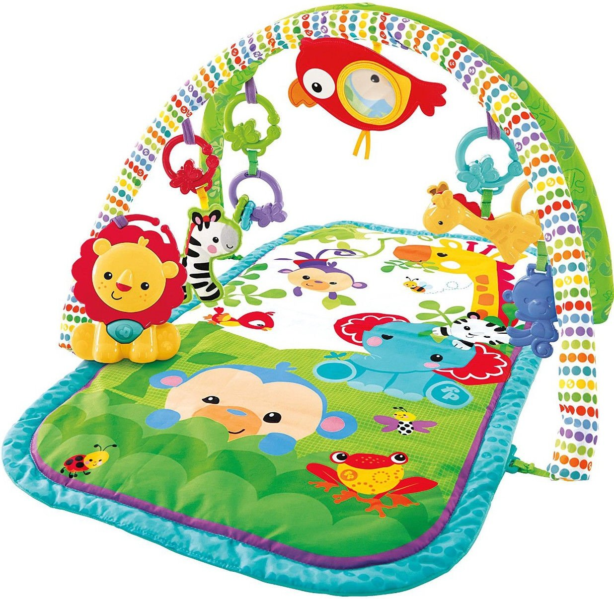 Aktivitātes paklājs Fisher Price Rainforest Friends 3in1 Musical Activity Gym CHP85