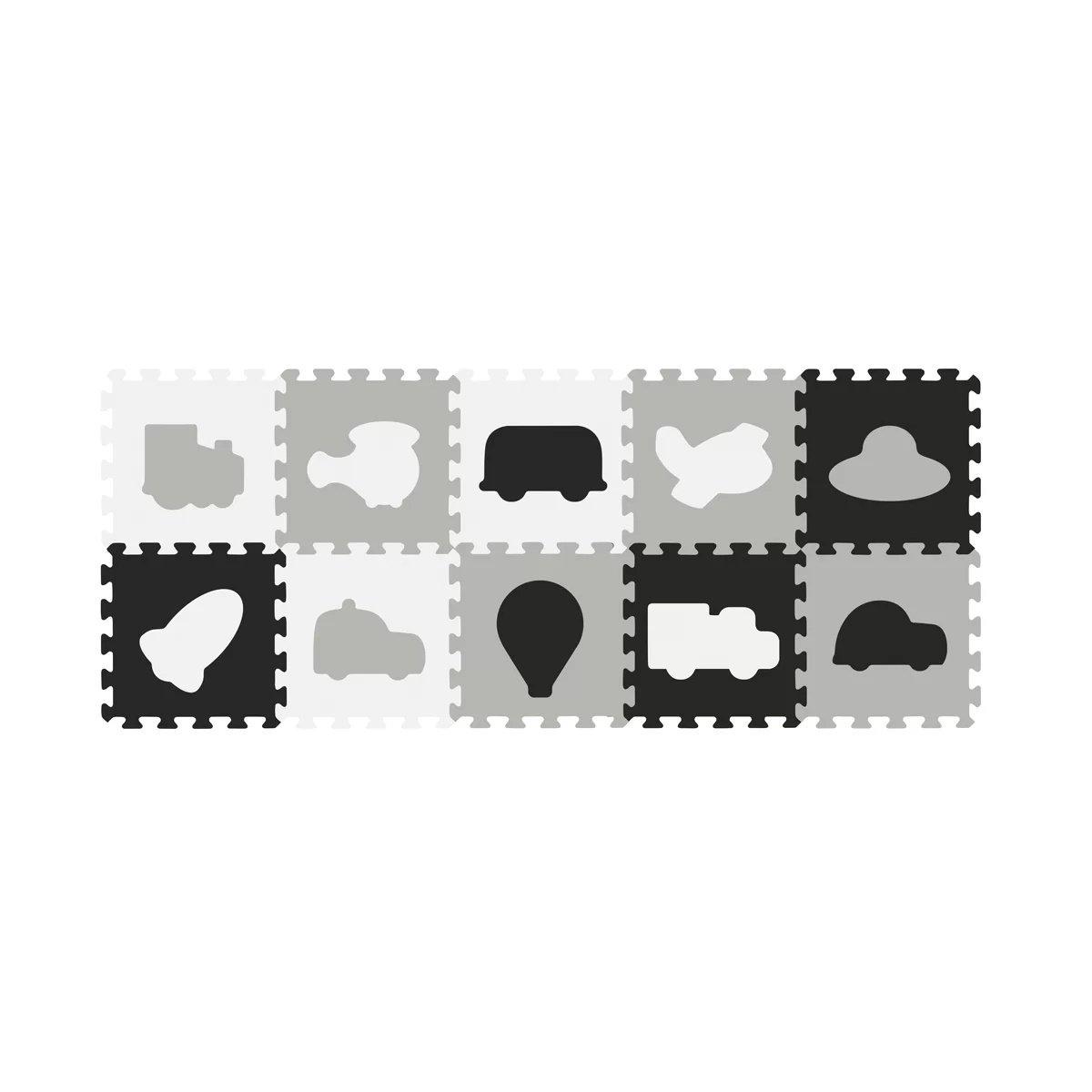 Aktivitātes paklājs-puzzle 10 plāksnes Babyono CARS 394/02