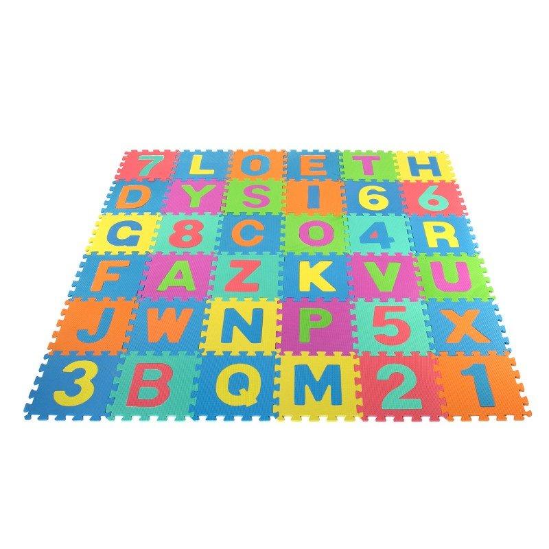 Aktivitātes paklājs Puzzle 29x29 cm no 36 elementiem TLC Baby Floor Puzzle