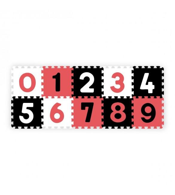 Aktivitātes paklājs Puzzle 30х30 cm no 10 elementiem Babyono NUMBERS 274/04