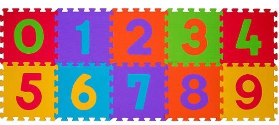 Aktivitātes paklājs-puzzle Babyono 274 Cipari 10 plāksnes