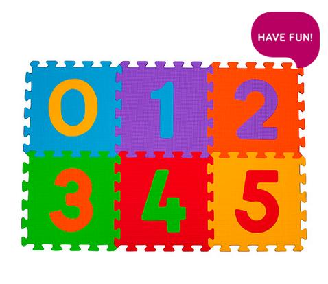 Aktivitātes paklājs-puzzle Babyono 275 Cipari 6 plāksnes