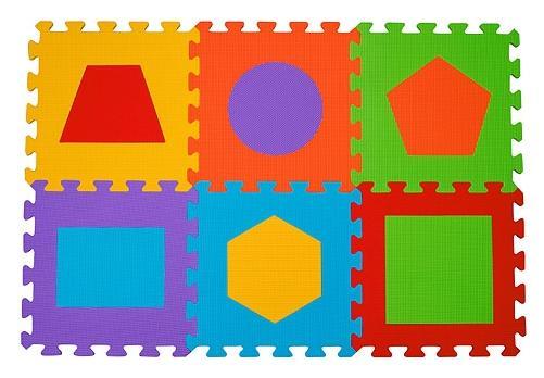 Aktivitātes paklājs-puzzle Babyono 279 Figūras 6 plāksnes