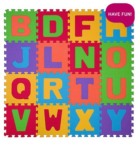 Aktivitātes paklājs-puzzle burti 16 plāksnes Babyono 280