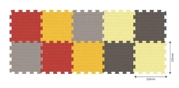 Aktivitātes paklājs Puzzle no 10 elementiem Smily Play Colorful 1/20
