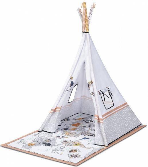 Aktivitātes paklājs-telts Kinderkraft Tippy 3in1 Educational Mat