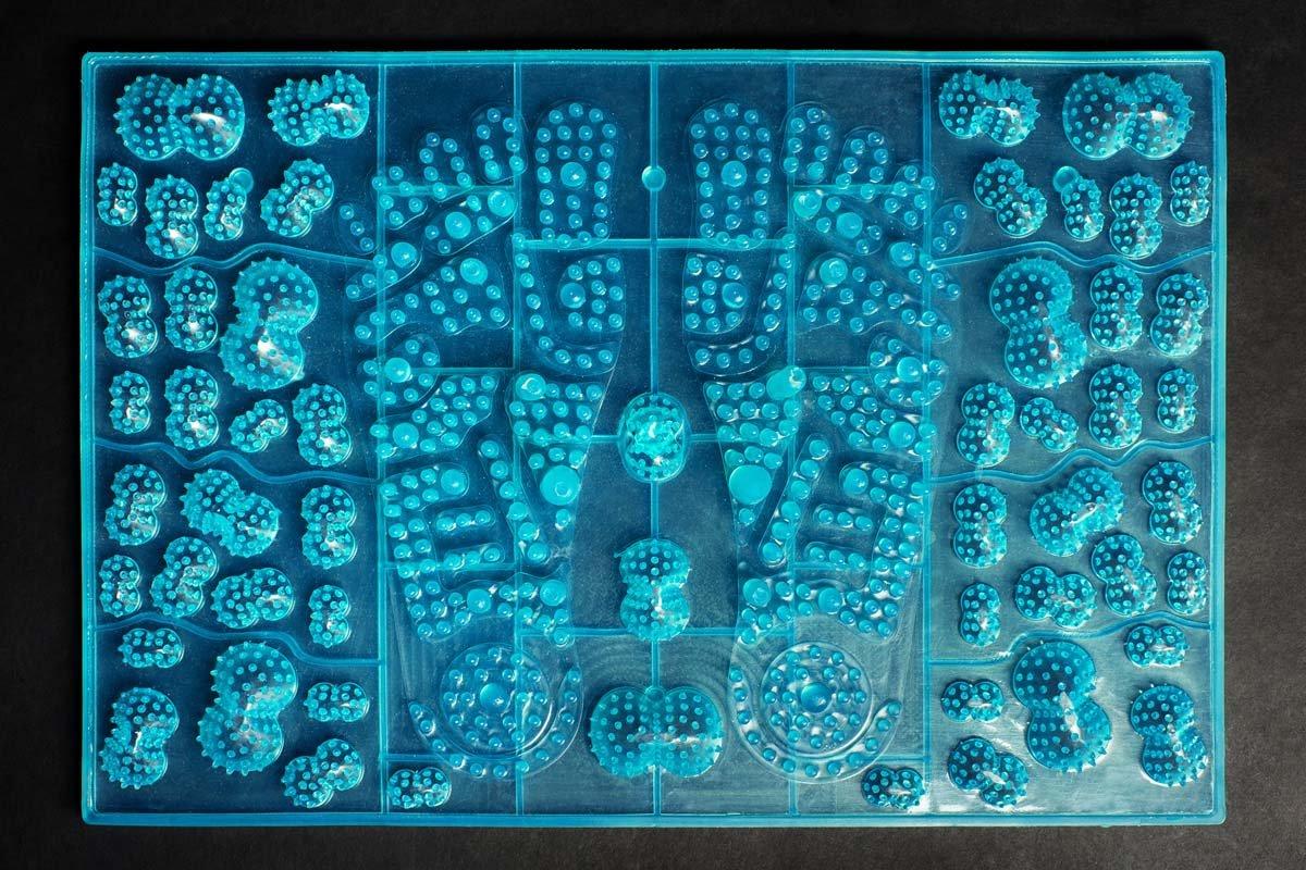 Akupresūras akupunktūras masāžas paklājs Igora JOY Blue