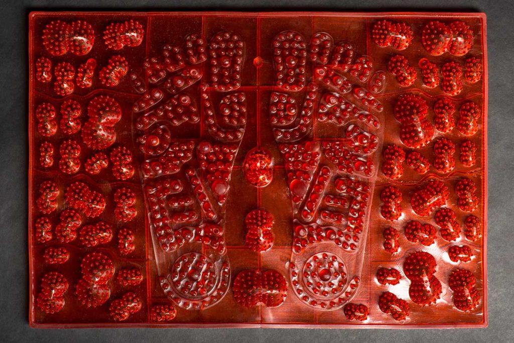 Akupresūras akupunktūras masāžas paklājs Igora JOY Red