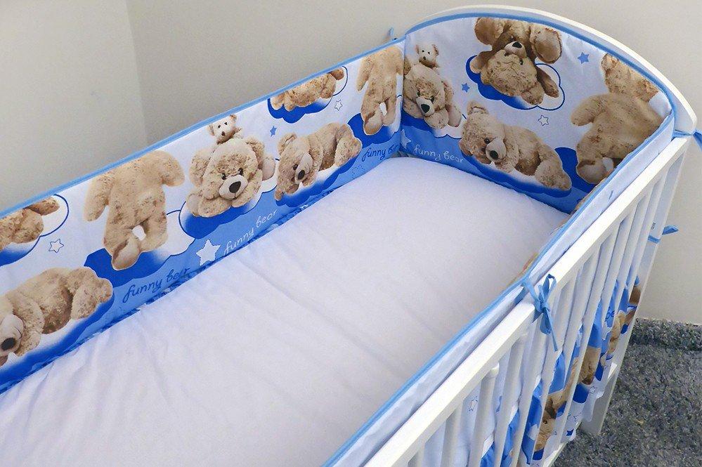 Apmale gultai 360 cm Ankras FUNNY BEAR blue
