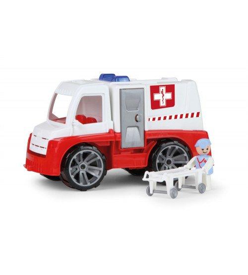Ātras palīdzības mašīna ar cilvēciņu un ratiņiem Truxx 29 cm kastē Čehija L04456