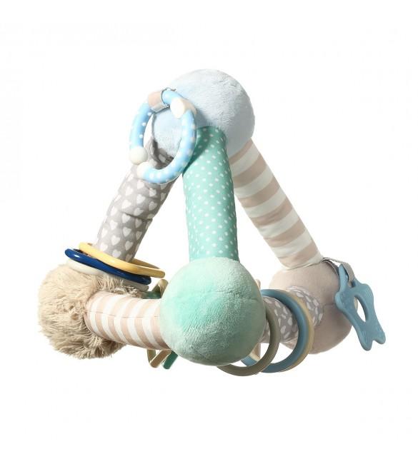 Attīstošā mīksta rotaļlieta BabyOno TINY YOGA PIRAMID  898/02 MINT