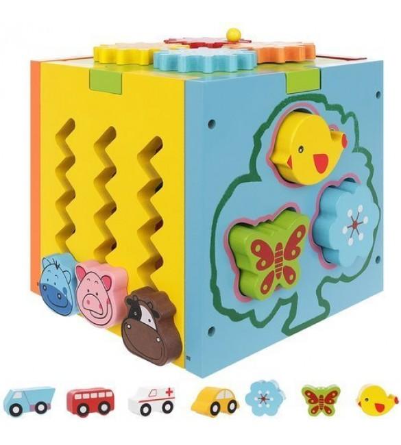 Attīstošā rotaļlieta kubs-sortieris 5in1 11245