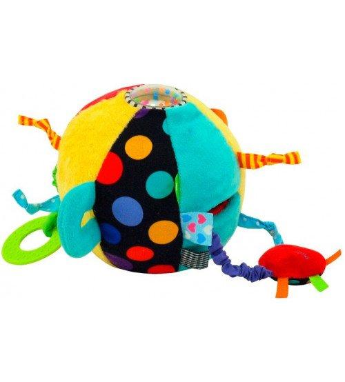 Attīstošā rotaļlieta Mīksta bumba ar grabulīšiem 16 cm BM-8545-15