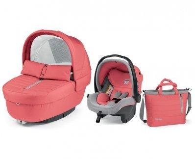 Autokrēsls un Kulba ar somu PEG-PEREGO Navetta SET Elite Primo Viaggio SL Breeze Coral IPMS170035CH38TX73