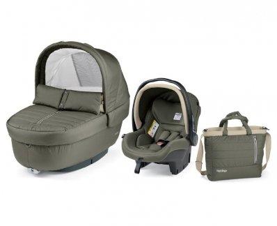 Autokrēsls un Kulba ar somu PEG-PEREGO Navetta SET Elite Primo Viaggio SL Breeze Kaki IPMS170035CH84TX46
