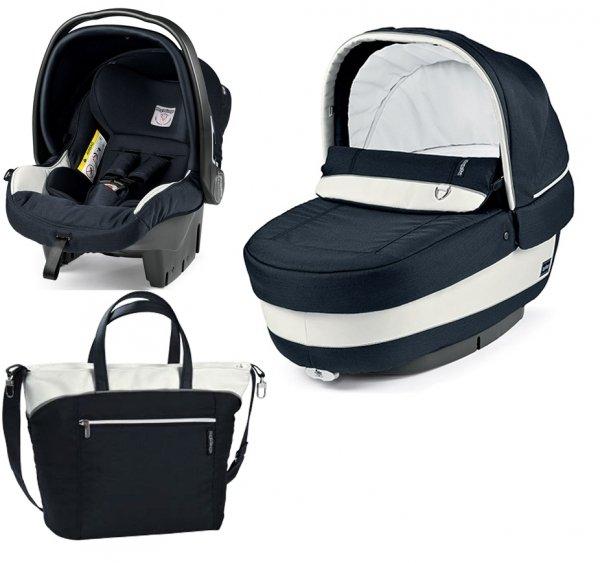 Autokrēsls un Kulba ar somu PEG-PEREGO Navetta SET Elite Primo Viaggio SL Luxe Blue IPMS170035BA41PL00