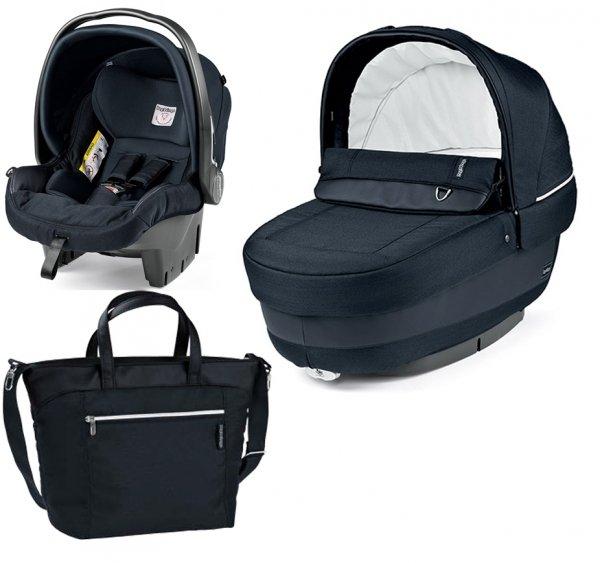 Autokrēsls un Kulba ar somu PEG-PEREGO Navetta SET Elite Primo Viaggio SL Luxe Bluenight IPMS170035BA41PL31