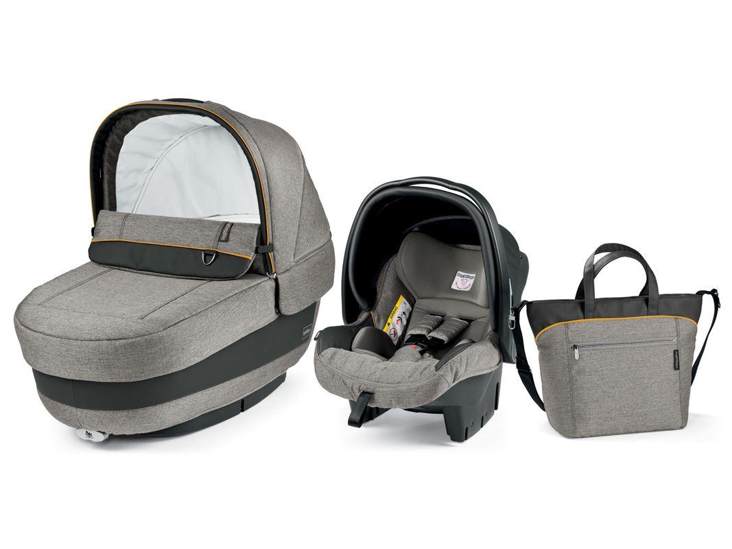 Autokrēsls un Kulba ar somu PEG-PEREGO Navetta SET Elite Primo Viaggio SL Luxe Grey IPMS170035BA53PL93