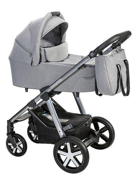 Baby Design Husky 107 Silver Grey Bērnu rati 2in1