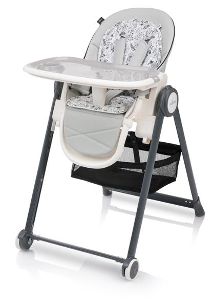 Baby Design PENNE Grey Barošanas krēsls ar mīksto ieliktni un gulāmpozīciju