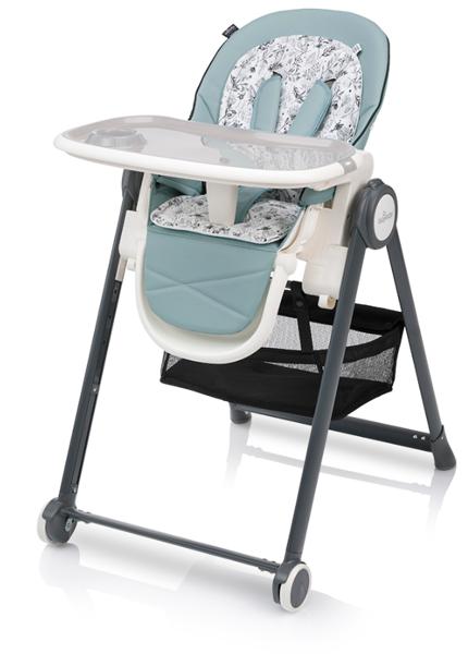 Baby Design PENNE Turquoise Barošanas krēsls ar mīksto ieliktni un gulāmpozīciju