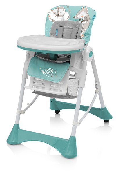 Baby Design PEPE  05 Turguoise Barošanas krēsls ar velūra ieliktni