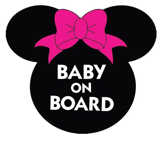 Baby On Board Minnie Uzlīme automašīnai