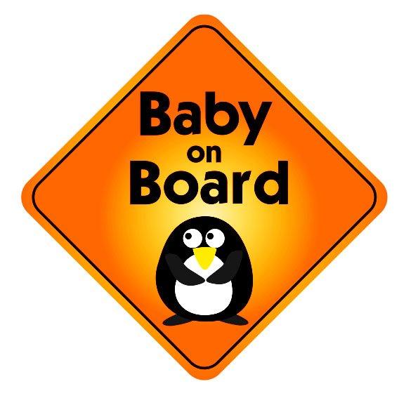 Baby On Board Pinguin Uzlīme automašīnai