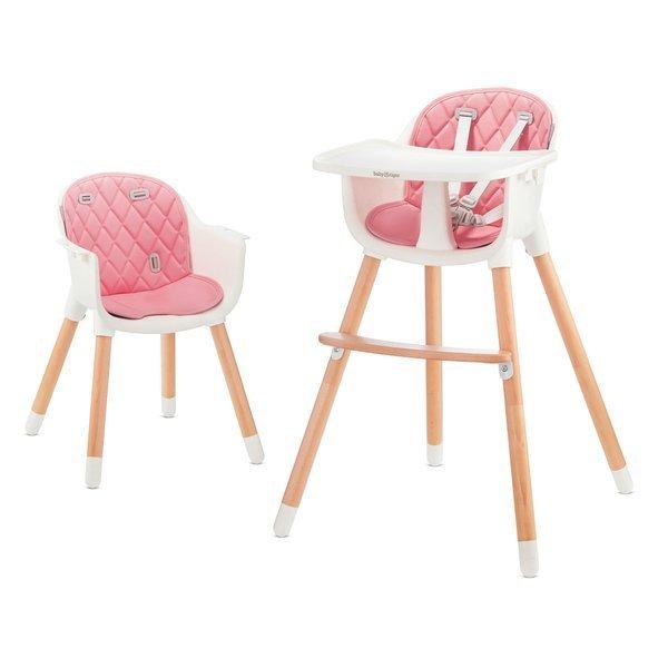 Baby Tiger Tini 2in1 Pink Barošanas krēsliņš