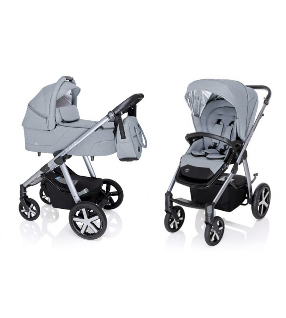BabyDesign HUSKY 27 light gray Bērnu rati 2 vienā universālie