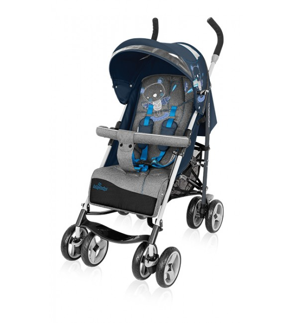 BabyDesign TRAVEL QUICK 03 blue Pastaigu rati