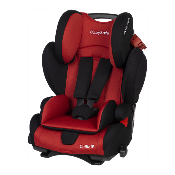 BabySafe Collie Black red Bērnu autosēdeklis 9-36 kg
