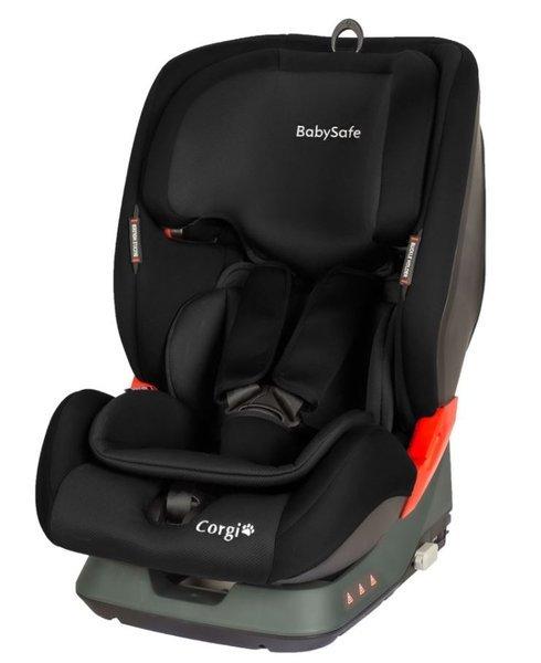 BabySafe Corgi Black Bērnu autosēdeklis 9-36 kg