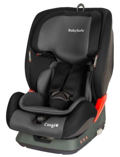 BabySafe Corgi Grey black Bērnu autosēdeklis 9-36 kg