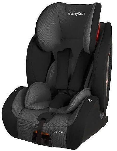 BabySafe Corso Grey black Bērnu autosēdeklis 9-36 kg