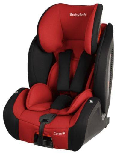 BabySafe Corso Red black Bērnu autosēdeklis 9-36 kg