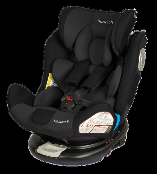 BabySafe Labrador Black Bērnu autosēdeklis 0-36 kg
