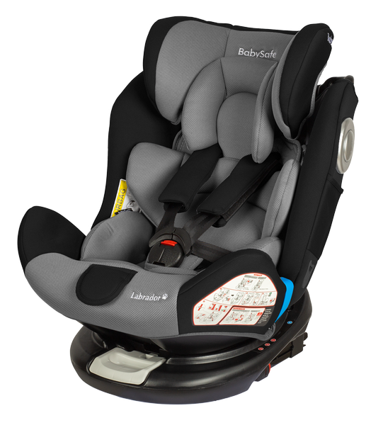BabySafe Labrador Grey black Bērnu autosēdeklis 0-36 kg