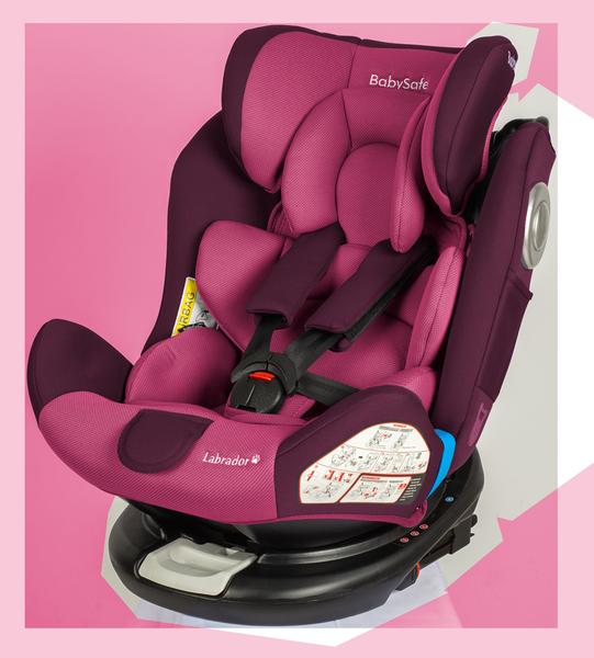 BabySafe Labrador Pink violet Bērnu autosēdeklis 0-36 kg