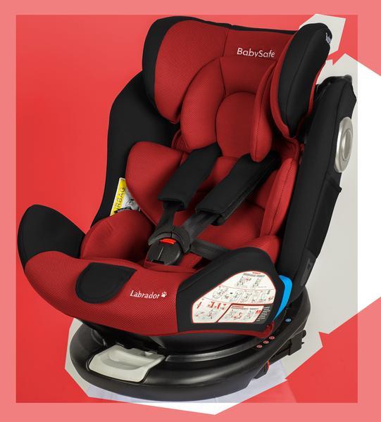 BabySafe Labrador Red black Bērnu autosēdeklis 0-36 kg