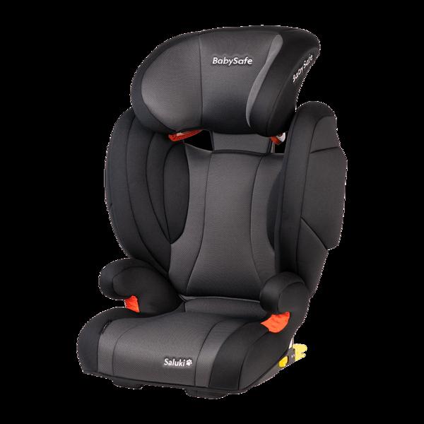 BabySafe Saluki Grey black Bērnu autosēdeklis 15-36 kg