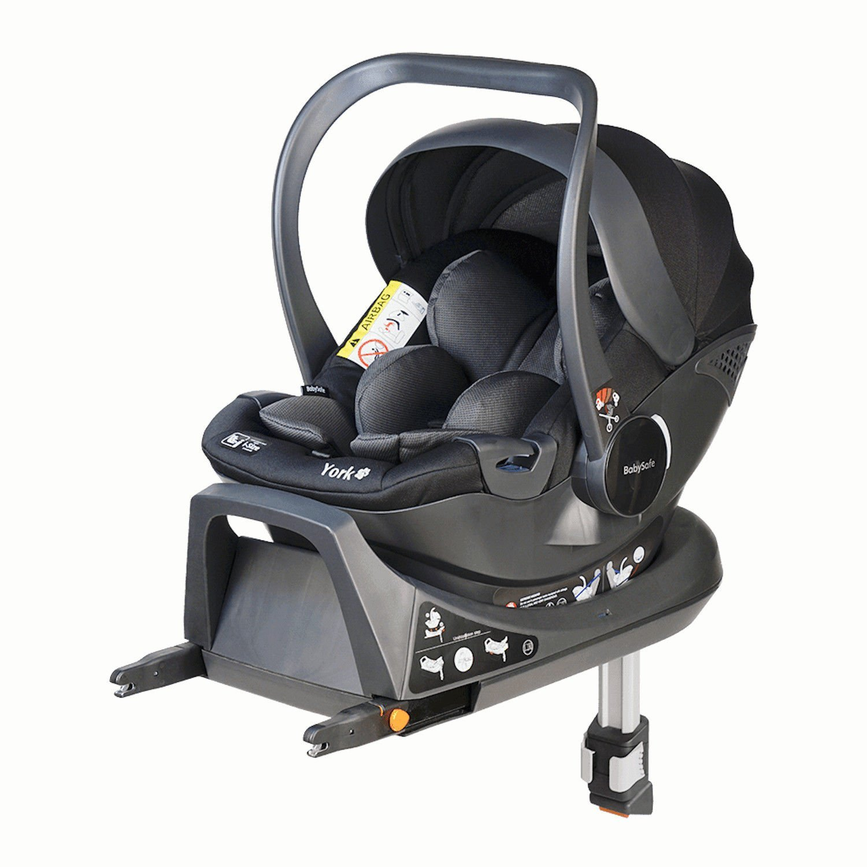 Babysafe York I-size Grey black + ISOFIX Base Bērnu autosēdeklis 0-13 kg