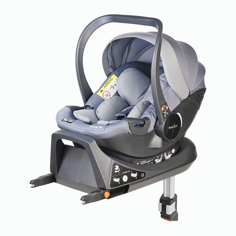 Babysafe York I-size Grey + ISOFIX Base Bērnu autosēdeklis 0-13 kg