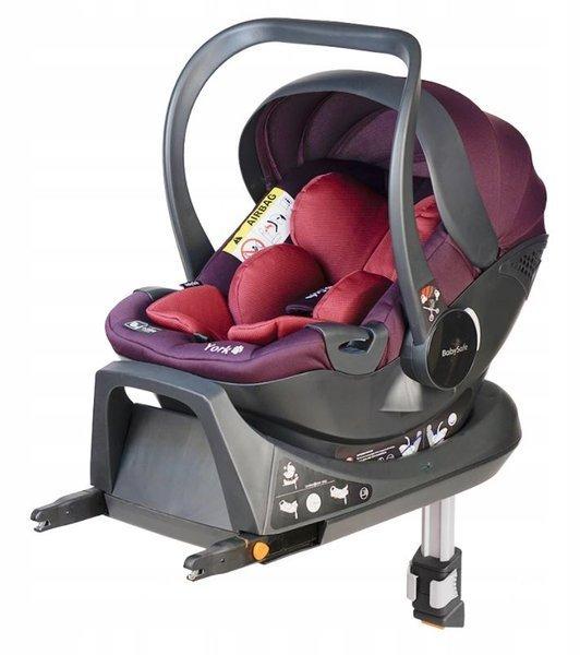 Babysafe York I-size Pink violet + ISOFIX Base Bērnu autosēdeklis 0-13 kg
