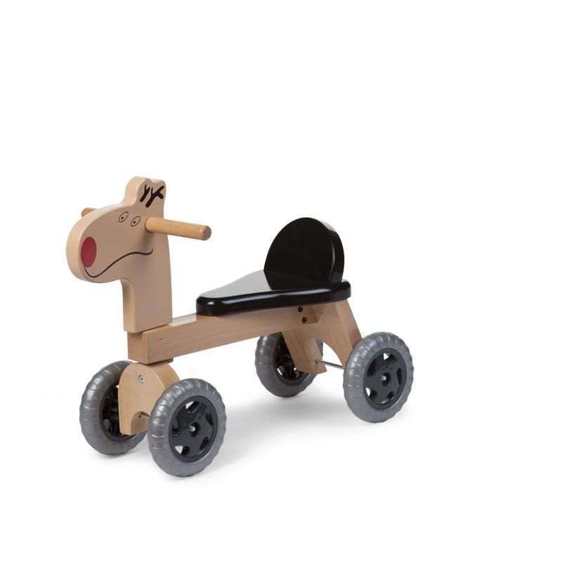 Balansa ritenis - Staigulis CHILDHOME Wooden Bike Natural Black Deer